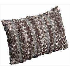 Mina Victory Luminescence Satin Rosettes and Rhinestones Throw Pillow (12 x 18 inches) | $54.99