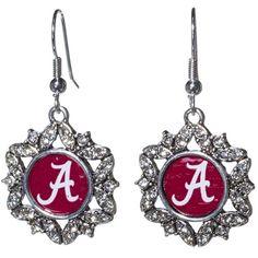 Alabama Crimson Tide Silver Tone Hook Earrings with a Starburst Design Featuring the Alabama Logo Judson http://www.amazon.com/dp/B00I2A8JGC/ref=cm_sw_r_pi_dp_fOV6tb044P917