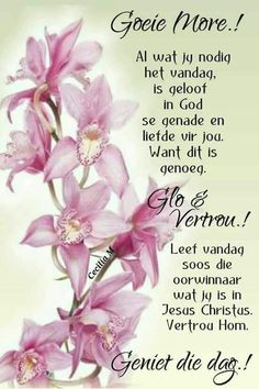 Monday Blessings, Morning Blessings, Good Morning Wishes, Day Wishes, Inspirational Thoughts, Positive Thoughts, Friendship Messages, Lekker Dag, Evening Greetings