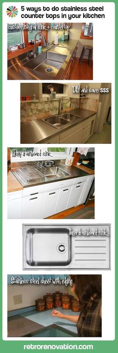 5 ways to do stainless steel counter tops in your kitchen — Retro Renovation