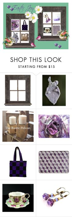 """Easter Joy"" by cozeequilts ❤ liked on Polyvore featuring rustic"