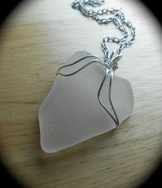 Sea Glass Jewelry  Wire Wrapped Beach Glass by SeaFindDesigns, $18.00