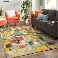 Carson Carrington Holbaek Area Rug - x x - Multi), Blue (Polyester, Geometric) Small Entryways, Polyester Rugs, Mohawk Home, Yellow Area Rugs, Rectangular Rugs, Online Home Decor Stores, Outdoor Rugs, Handmade Rugs, Entryway Decor