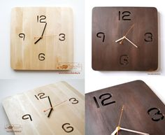 Modern, concise design wooden clock. You can find it: http://www.dekorufabrika.lv/lv/online-store/details/112/32/suven%C4%ABri-un-d%C4%81vanas-souvenirs-and-gifts/moderns-pulkstenis-modern-clock