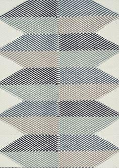 Dywan Lubo Blue - Linie Design - ecrue z niebieskim