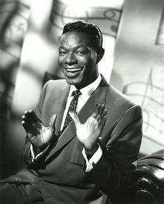 "Nat King Cole Died of Lung cancer. He was a singer, musician, Jazz pianist with a baritone voice. Which made it so he song/played with Big Band and Jazz genres. He was the black person that hosted his own variety show ""The Nat King Cole Show"". Hip Hop, Billy Holiday, Nat King, New Wave, Psychedelic Rock, King Cole, Jazz Musicians, Jazz Blues, Hollywood Actresses"
