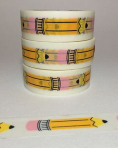 Back To School Pencil Washi Tape by DaisyGreyPretties on Etsy