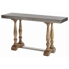 Winfield Console by Arteriors #galvanized #rivets #table