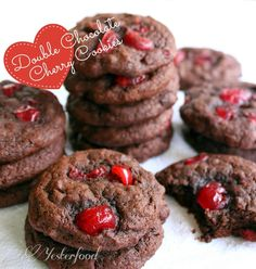 Yesterfood : Double Chocolate Cherry Cookies