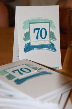 Maikes Kreativseite: Einladungen zum 70. Geburtstag Get Well, Stampin Up, Birthday Cards, Party, How To Make, Handmade, Inspiration, Creativity, Handmade Cards