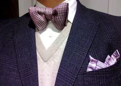 Theory shirt- Tom Ford Bow tie- Vince sweater -Paul Smith jacket and pocket square