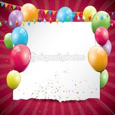 Sfondo colorato compleanno — Vettoriali Stock © kaktus2536 #12004969