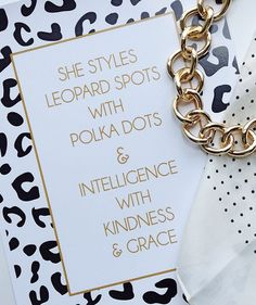 She styles leopard spots with polka dots & intelligence with kindness and grace. http://rstyle.me/n/pd6qdnyg6