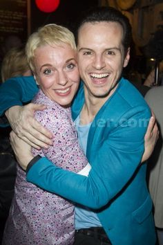 Amanda Abbington and Andrew Scott at the Birdland after party