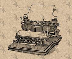 Typewriter printing mechanism Vintage Retro drawing Instant Download Digital printable black clipart graphic transfer burlap paper HQ300dpi by UnoPrint on Etsy #hq #png #bw #Ephemera #diy #old #book #illustration #gravure #inspiration #retro #antique #vintage #300dpi #craft #draw #drawing  #black #white #printable #crafts #transfer #decor #hand #digital #collage #scrapbooking #quality