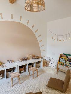 Playroom Mural, Toddler Playroom, Playroom Design, Kids Room Design, Modern Playroom, Modern Kids Rooms, Toddler Bedroom Ideas, Montessori Toddler Bedroom, Little Boy Bedroom Ideas