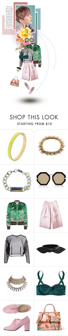 """""""Untitled #799"""" by sophielovesblue ❤ liked on Polyvore featuring Kate Spade, Hard Candy, Karen Walker, Gucci, Etrala London, Yves Saint Laurent, Dolce&Gabbana and layers"""