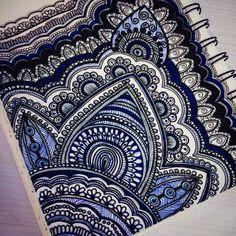 Mandala x Henna on paper