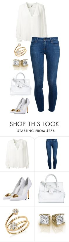 """""""Untitled #326"""" by cin-jaz ❤ liked on Polyvore featuring Erin Fetherston, Paige Denim, Versace, Bloomingdale's, ootd and versace"""