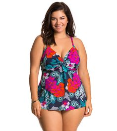 Hospitable Ladies Tankini Flutter Swimsuit Top By Jaclyn Smith Size 6 New With Tags Swimwear Women's Clothing