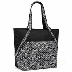 Super Sachi Hot/Cold 50-Can Insulated Cooler Tote Bag Leak-Proof Picnic Black >>> You can get more details by clicking on the image.