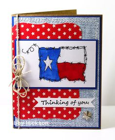By Libby Hickson. Texas flag stamp from Texana Designs Stamps.
