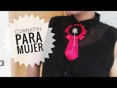 """DIY- Moño victoriano o corbatín para mujer """"bow brooch"""" de listón - YouTube"""