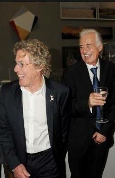 Roger Daltrey and Jimmy Page - why am I shocked that they're old? Rockers don't get old, do they?