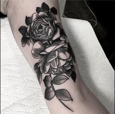 Black rose, flower tattoo by Sean Wright at Wonderland Tattoo, Portland Oregon Wonderland Tattoo, Botanical Tattoo, Black Tattoos, Ink, Portland Oregon, Instagram Posts, Flowers, Rose, Pink