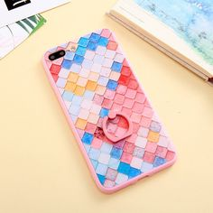 Colorfully textured Iphone 7 Plus Case w/ kickstand
