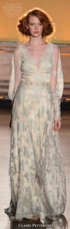 New York Bridal Fashion Week Day 1: Claire Pettibone Fall 2016 Wedding Dress #weddingdress #weddingdresses #bridal #nybfw #nybm #bfw #newyorkbridalweek