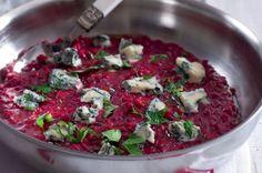 Rizoto s červenou řepou a gorgonzolou Bruschetta, Beets, Paleo, Cooking, Ethnic Recipes, Food, Fitness, Risotto, Kitchen