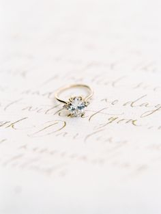 Vintage gold band engagement ring: http://www.stylemepretty.com/2017/04/06/get-inspired-to-throw-a-wedding-built-for-two/ Photography: Esmeralda Franco - http://esmeraldafranco.com/