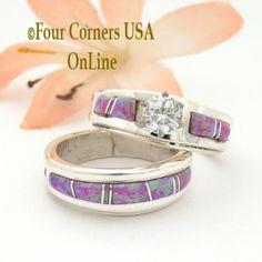 Four Corners USA Online - Size 5 1/2 Pink Fire Opal Engagement Bridal Wedding Ring Set Native American Wilbert Muskett Jr WS-1537, $240.00 (http://stores.fourcornersusaonline.com/size-5-1-2-pink-fire-opal-engagement-bridal-wedding-ring-set-native-american-wilbert-muskett-jr-ws-1537/)