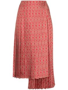 a0b7ff3c87 Fendi Gate Printed Midi Skirt
