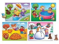 Seasons and Weather Puzzle Set at Lakeshore Learning Weather For Kids, Preschool Weather, Preschool Activities, Seasons Chart, Four Seasons, Teacher Magazine, Lakeshore Learning, Weather Seasons, Free To Use Images