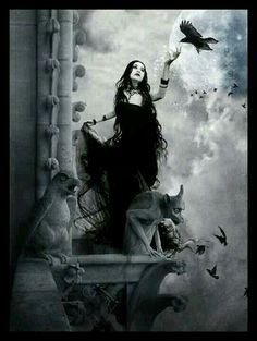 Goddess Dark gothic art Gothic fantasy art Fantasy art