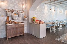 Stones and Walls designed the interior for Mythos Kouzina & Grill, which brings authentic Greek food to Dubai Best Restaurants In Dubai, Greek Restaurants, Bar Interior, Restaurant Interior Design, Cafe Restaurant, Restaurant Ideas, Stone Wall Design, Greek Decor, Traditional Design