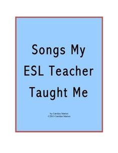 Songs My ESL Teacher Taught Me Freebie! Check out my top 21 list of fun songs to help you teach English! Includes suggested songs for the beginning/end of the year, vocabulary, verb tenses, and other special occasions. Teaching Methods, Teaching Activities, Spanish Activities, Vocabulary Activities, English Lessons, Learn English, English Lesson Plans, French Lessons, Spanish Lessons