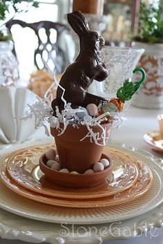Love this as place settings at Easter Breatkfast!