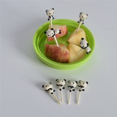 8pcs Cute Panda Fruit Fork Kitchen Goods Mini Bento Accessories Lunches Toothpick Snack Cake Dining Forks Party Decor Fourchette #Affiliate
