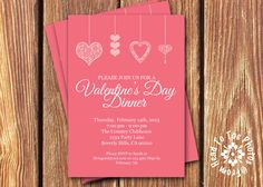 Valentine's Day Invitations by FromHeadtoToeDesigns on Etsy