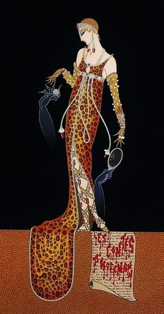 Giulietta from 'Les Contes d'Hoffmann' an opera by Jacques Offenbach, illustrated by Erté (Romain de Tirtoff)