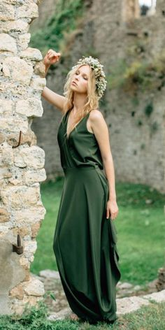 f877648df281 18 Green Wedding Dresses For Non-Traditional Bride