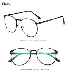 030eedb0eb2 Brand High Quality Women Spectacle Frame Vintage Optics Eyeglasses Frame  Men Round Retro Clear Glasses Prescription Eyewear