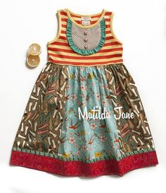Matilda Jane It's A Wonderful Parade Spring 2014 - Ode to Shoes Tank Dress size 6