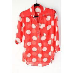 Shabby Dots Top --I love the dots anywhere and everywhere. So girly.