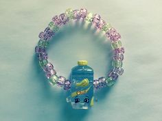 Shopkins Foodie Bracelet  Olivia Oil  repurposed toys  by ErinEtc