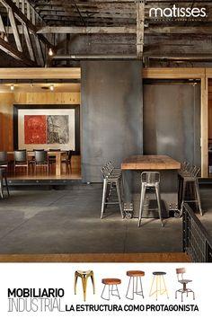Un recorrido por el mobiliario con estilo industrial que puedes incluir en la decoración del hogar.