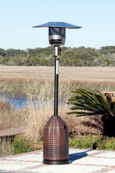 46,000 BTU Mocha Finish w/ All Weather Wicker Tank Cover LPG Patio Heater 46,000 BTU Mocha Finish w